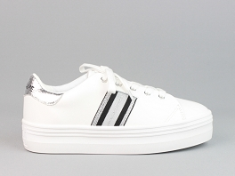 PLATO M DERBY NAPPA CRACKLE<br>White-Silver