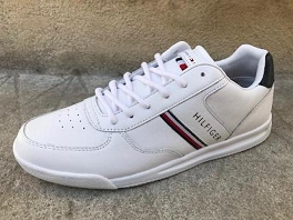 LIGHTWEIGHT LEATHER MIX SNEAKER<br>Blanc