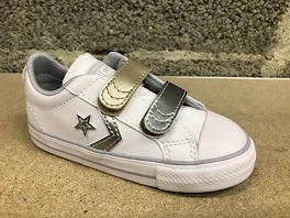 7190-DORK STAR PLAYER OX METAL LEATHER:Blanc Multi